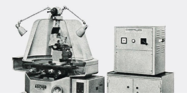 first electrolytic tool processing machine